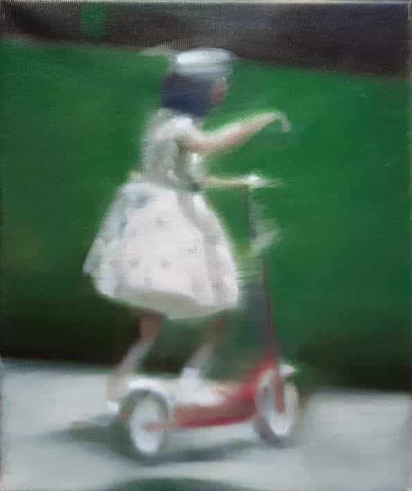 Girl on an autoped