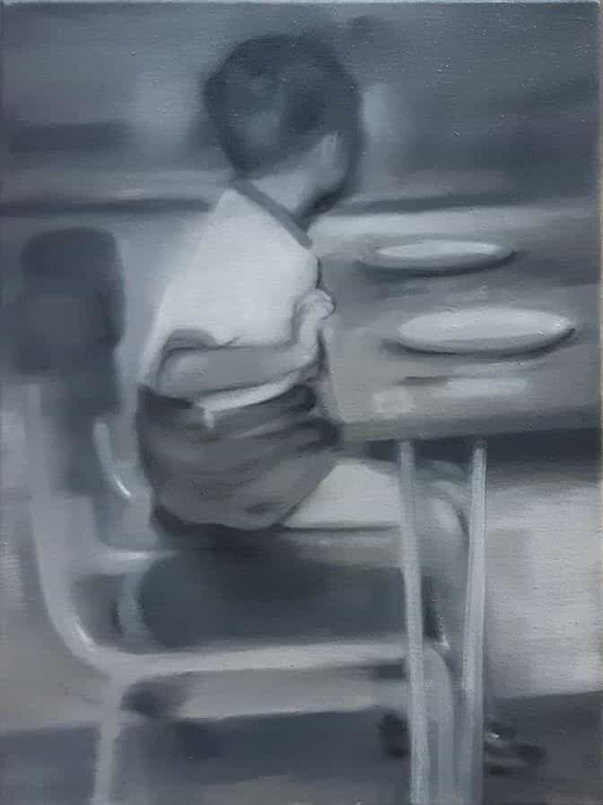 Boy at a table