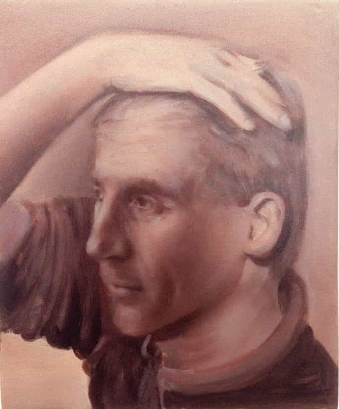 Man holding his head
