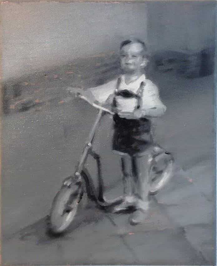 Boy on an autoped